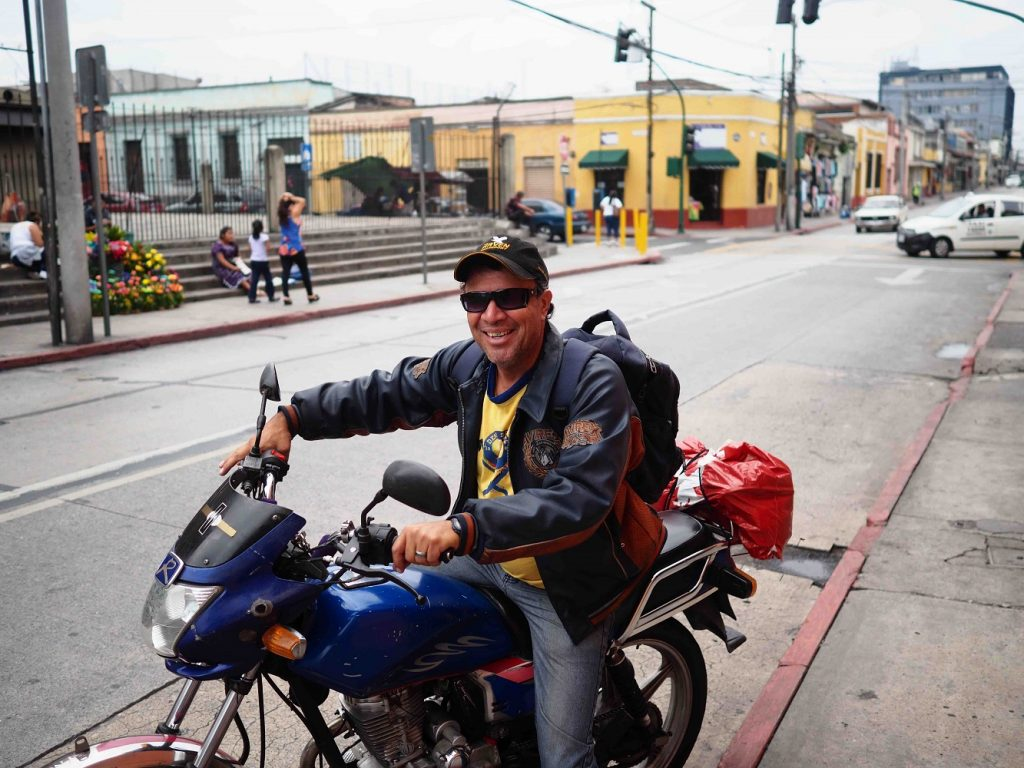 Local on his motorbike