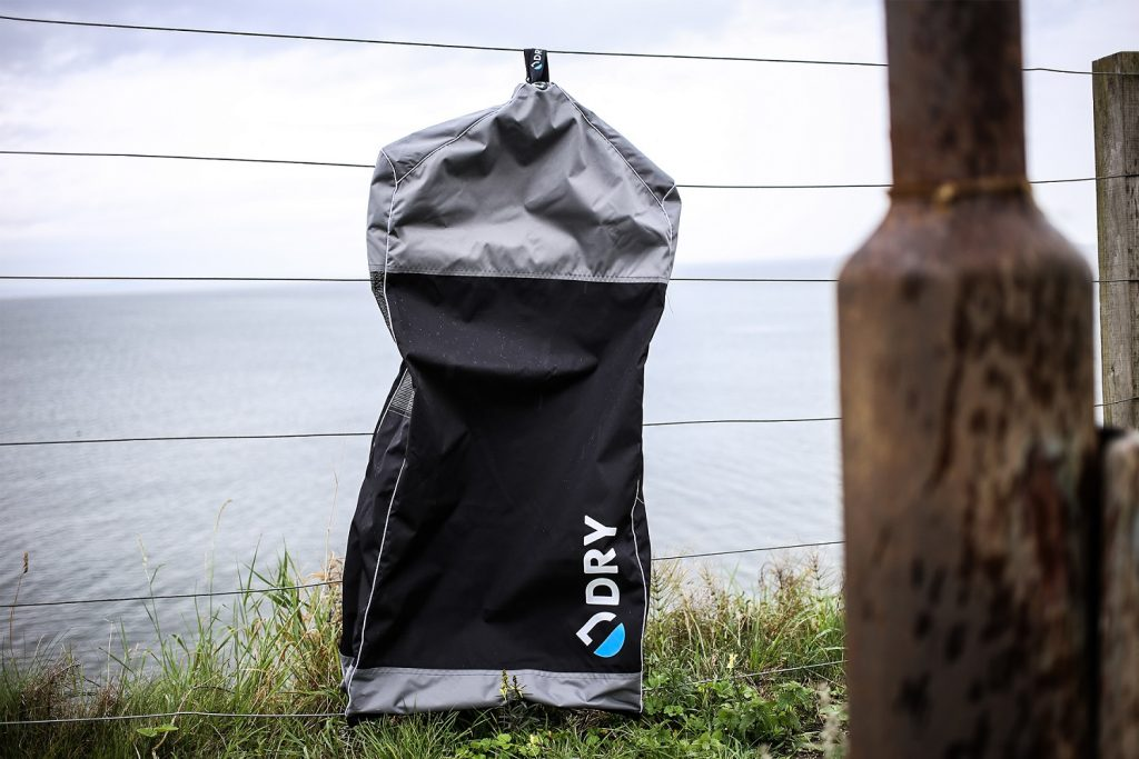 The Dry Bag on a fence