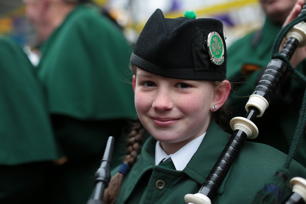 Young St Patrick's Day Band Member