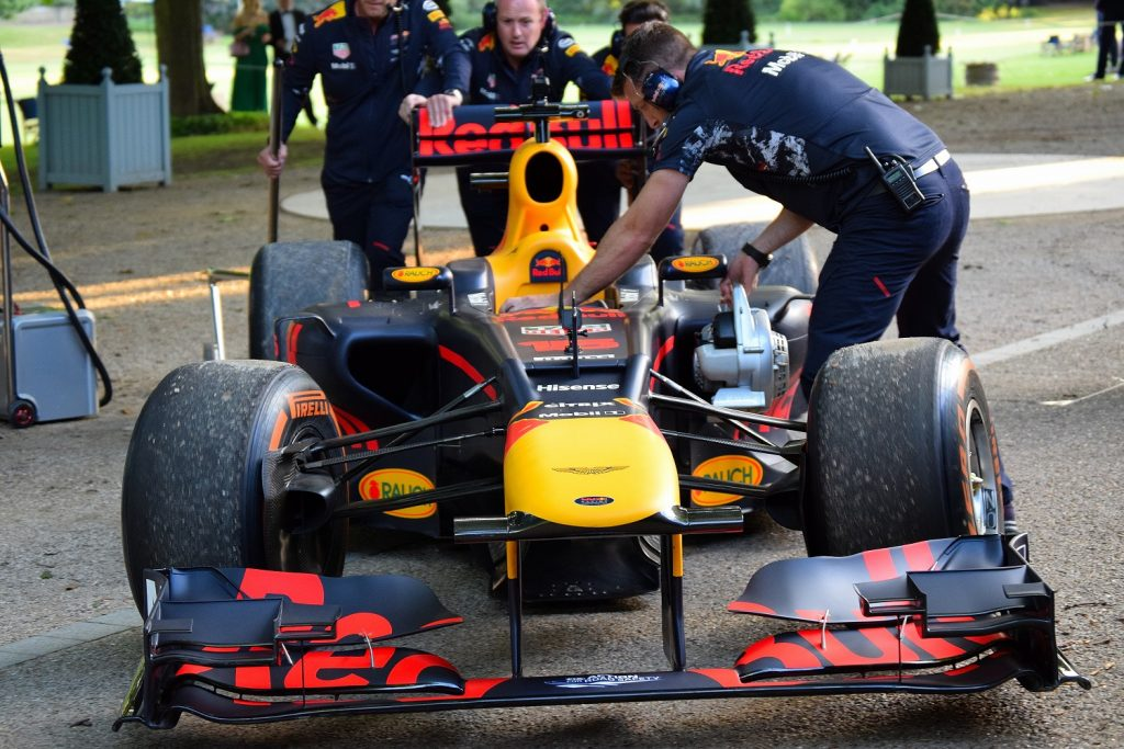 The Red Bull RB13 was driven by Pierre Gasly
