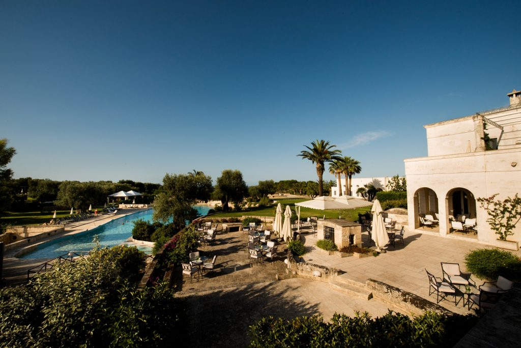 Masseria San Domenico Terrace Bar overlooking the pool