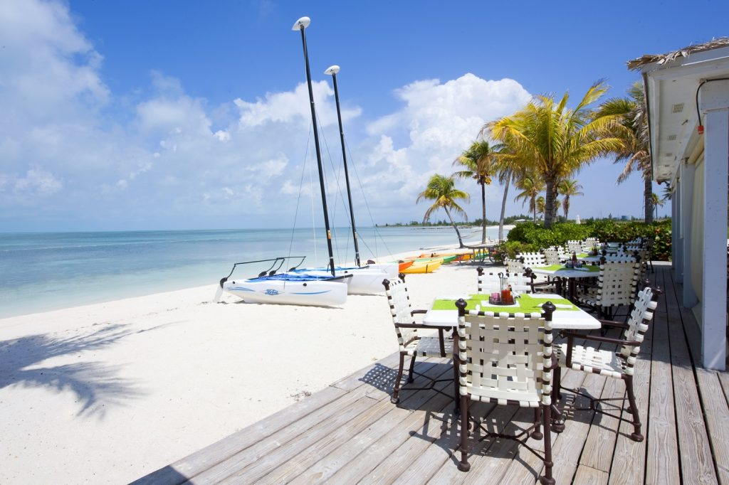 Old Bahama Bay beach dining