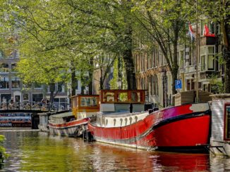 Amsterdam Canal Barge