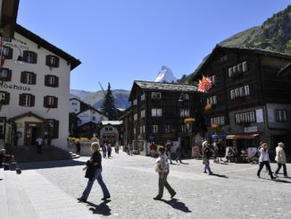 Church Square in Zermatt in the summer