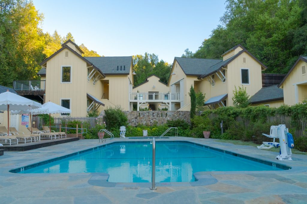 The swimming pool at Farmhouse Inn