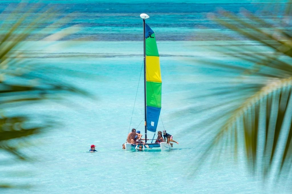 Sailing at all-inclusive resort