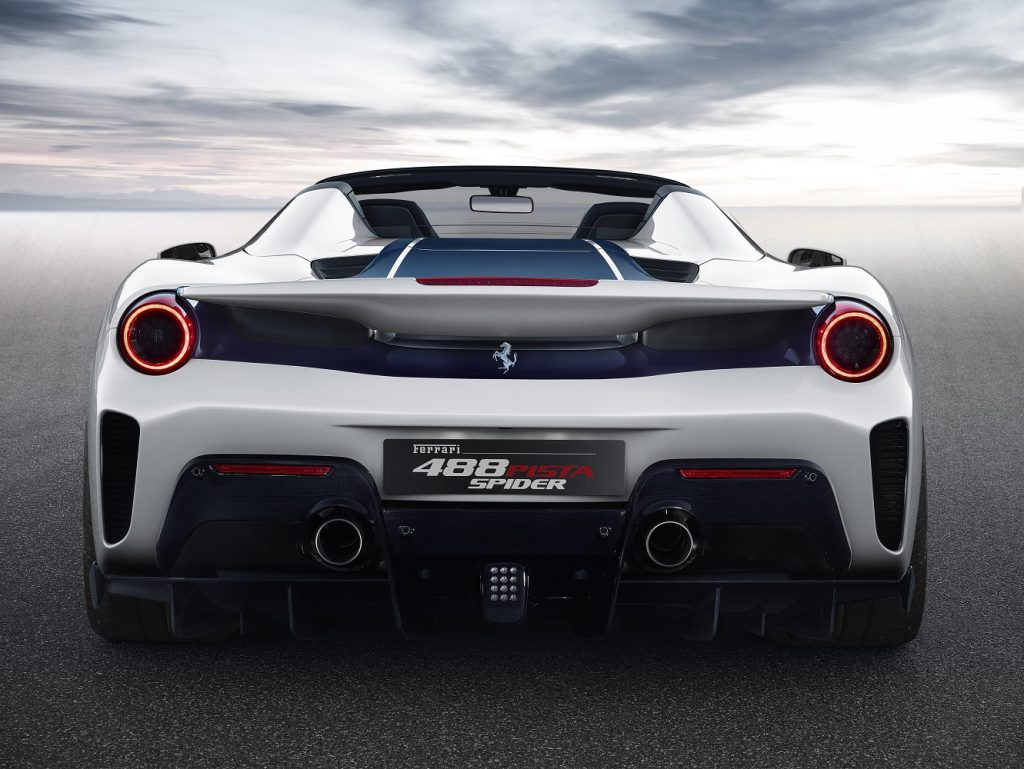 Ferrari 488 Pista Spider rear