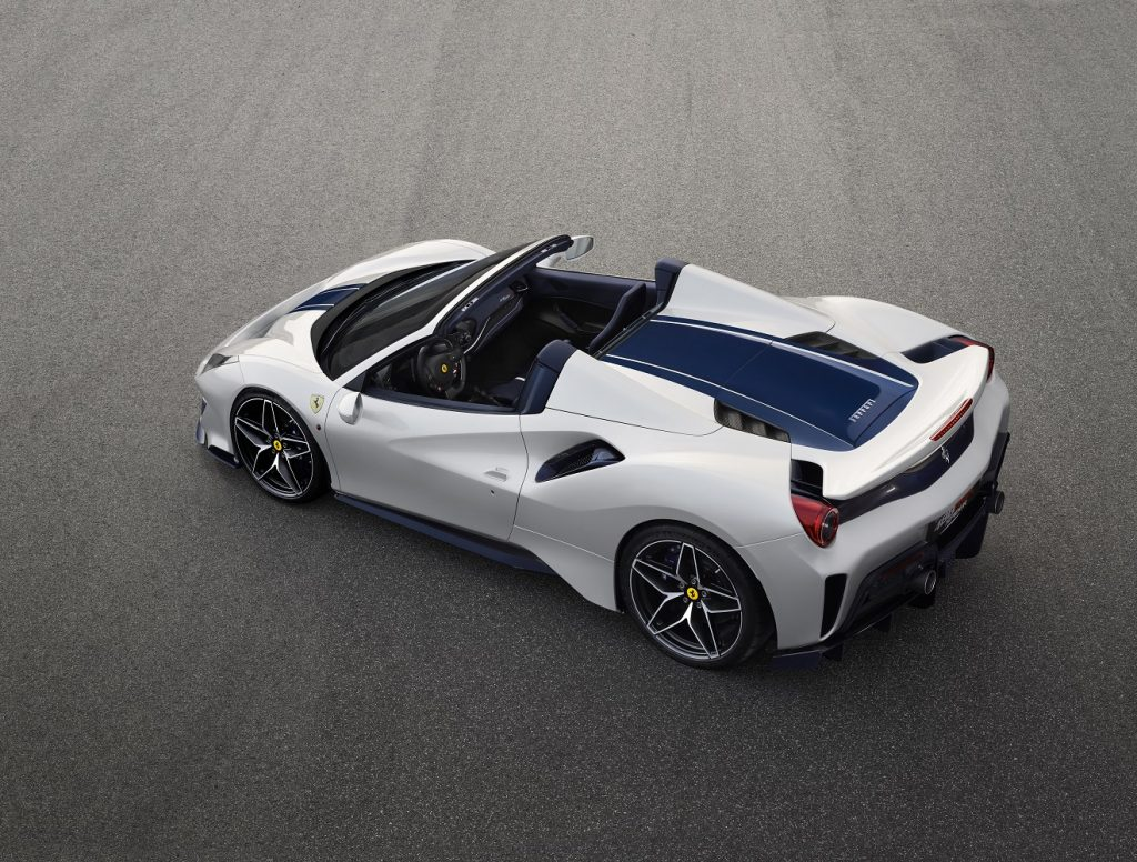 Ferrari 488 Pista Spider rear view