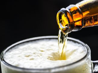 Pouring CBD Beer