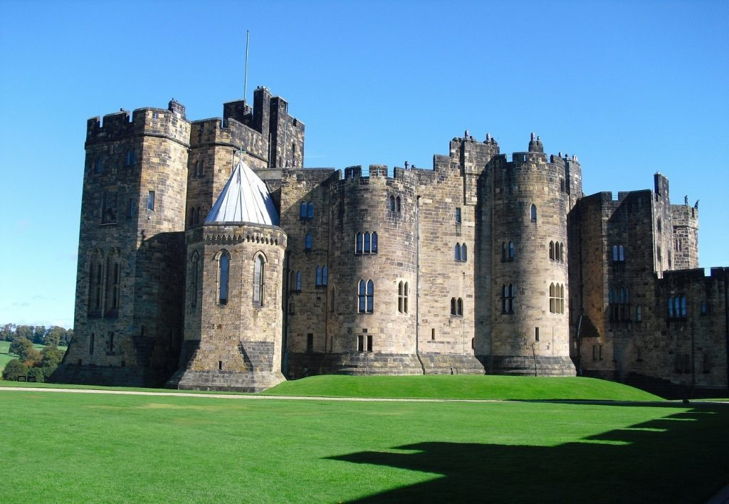 Alnwick Castle in Nothumberland