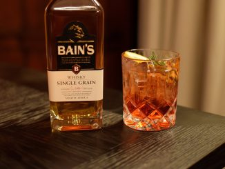 Bain's Boulevardier Cocktail and Bain's Cape Bottle