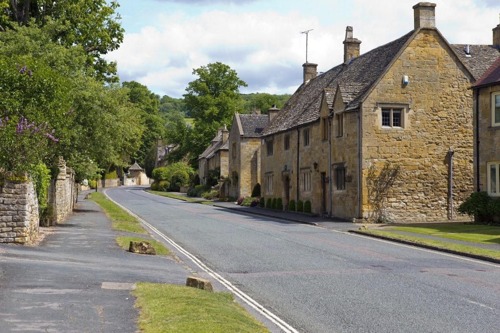 Cotswold village in the countryside