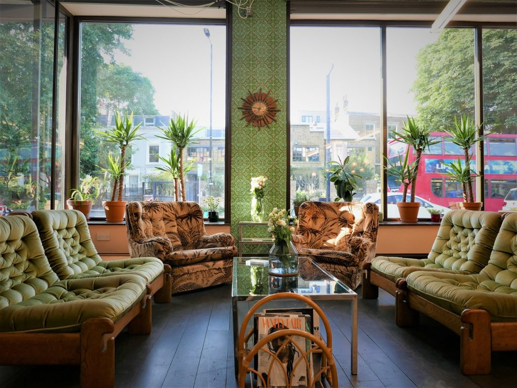 Foster London Hair Salon waiting area
