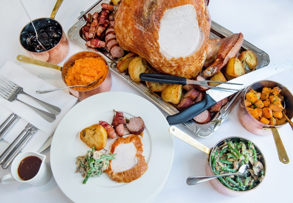 108 Brasserie Thanksgiving Roasted Caldecott Farm bronze turkey