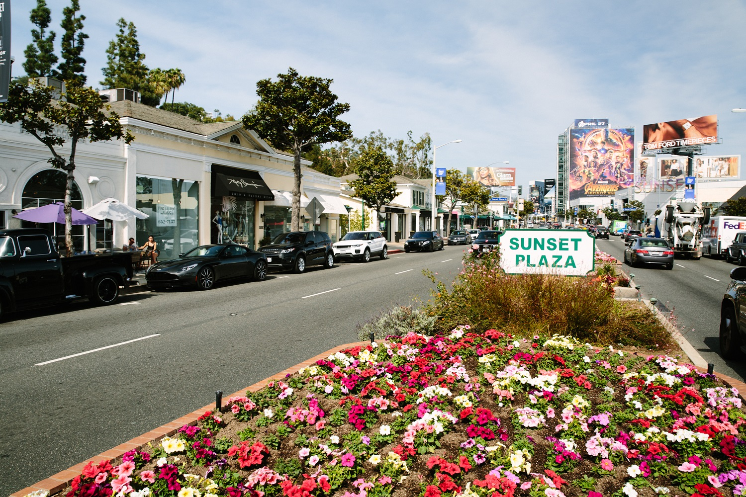 Sunset Plaza in West Hollywood