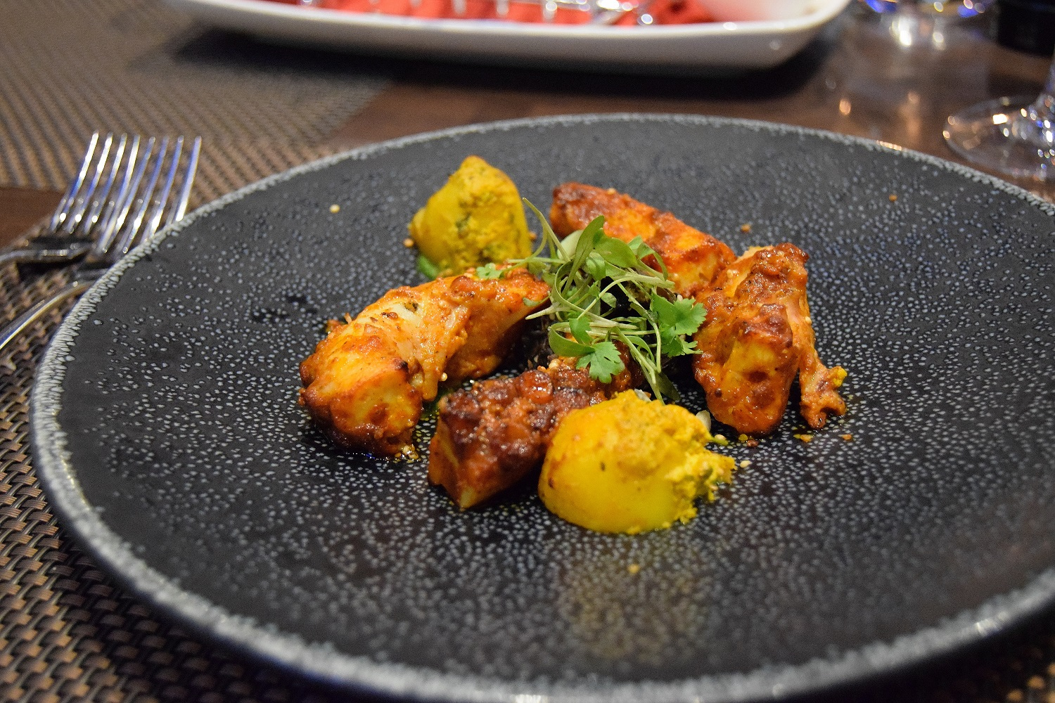 Tandoori Octopus and Colacasia