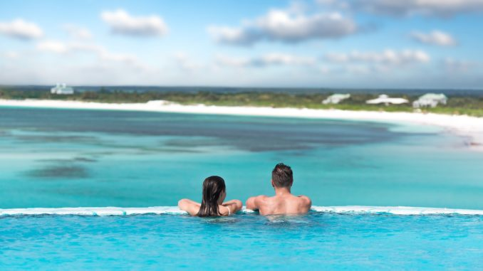 Couple enjoying view at all-inclusive resort