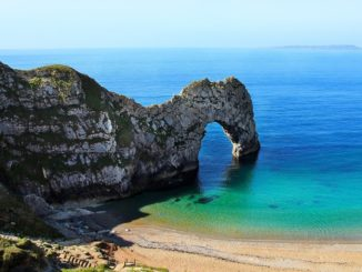 Durdle Door in Cornwall in winter