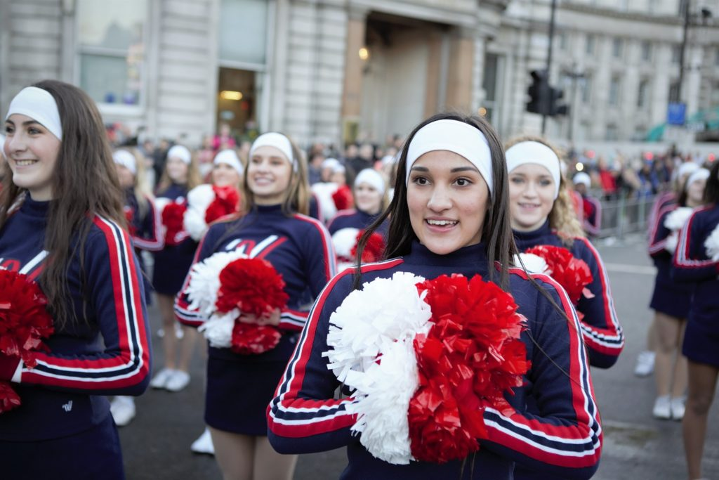 London's New Year's Day Parade Cheerleaders