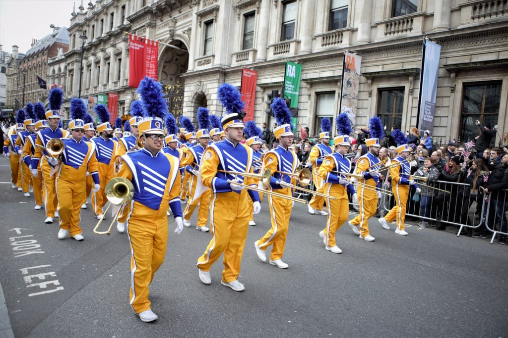 London's New Year's Day Parade Marching Band