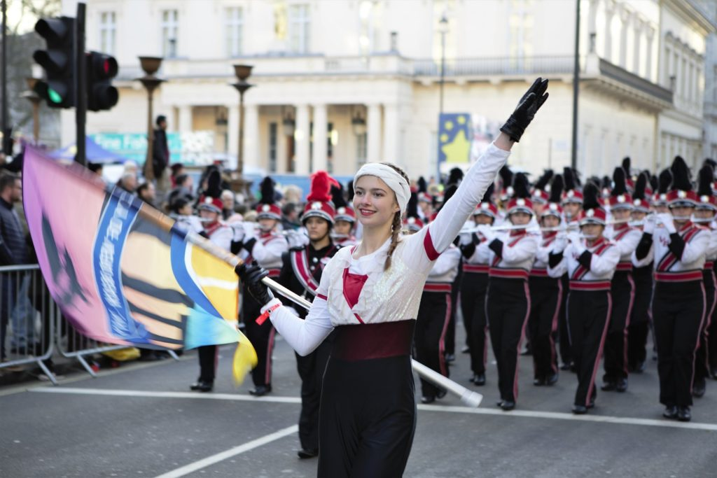 London's New Year's Day Parade Marching Band in Pall Mall