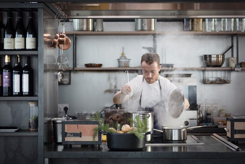 The Lookout Chef Kenny McGowan in Kitchen