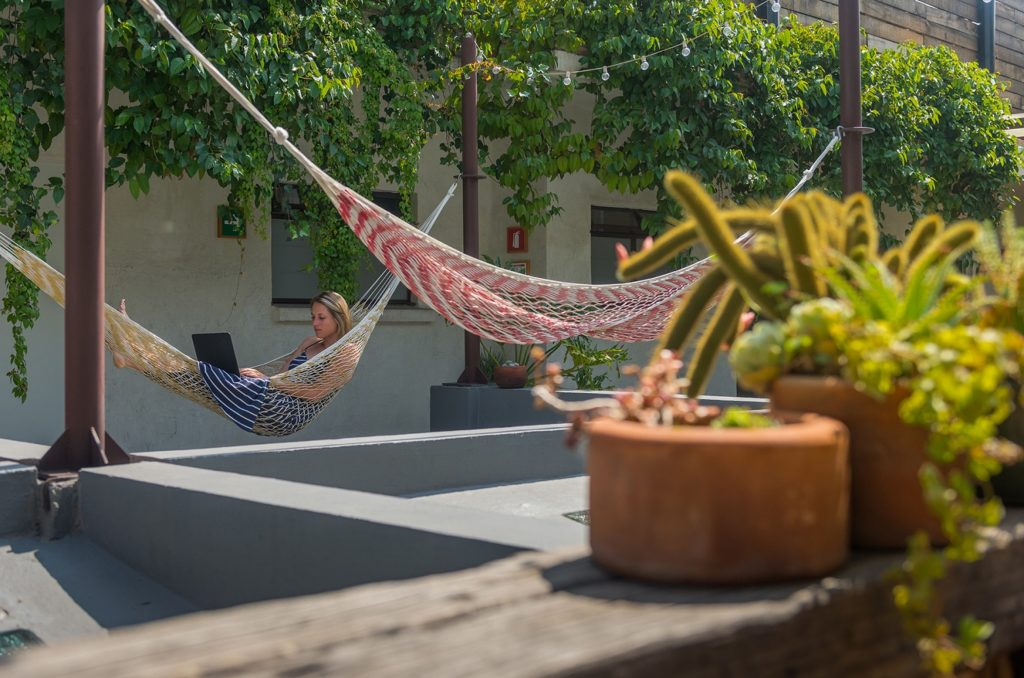 Chaya Hammock on Roof Terrace