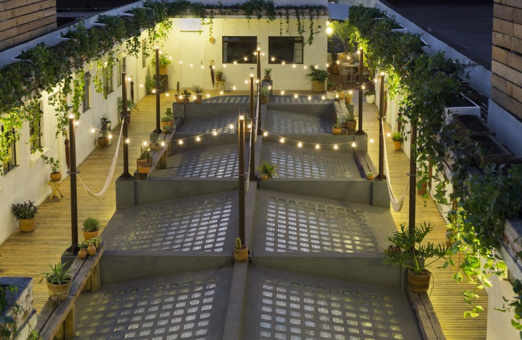 Chaya Roof Terrace at night
