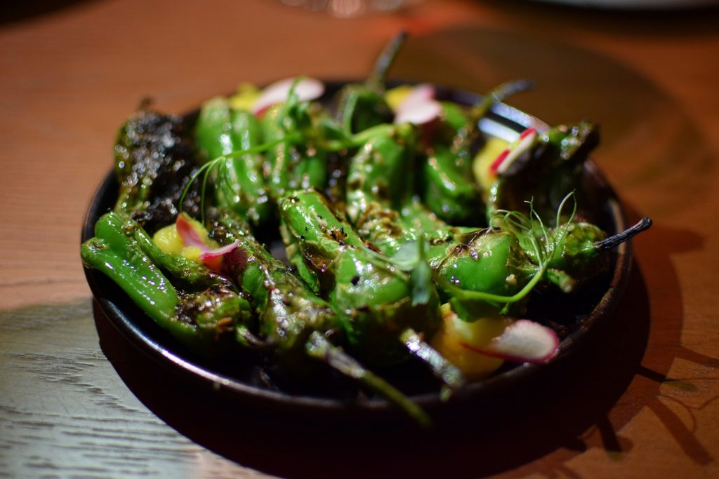 Farzi Cafe Flamed Padron Peppers