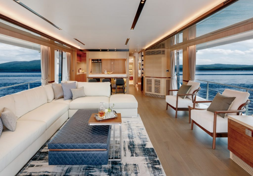 Horizon FD77 Main Living Area Stateroom