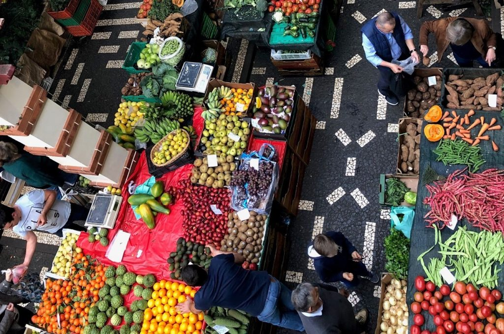 Market Stalls in Funchal Madeira