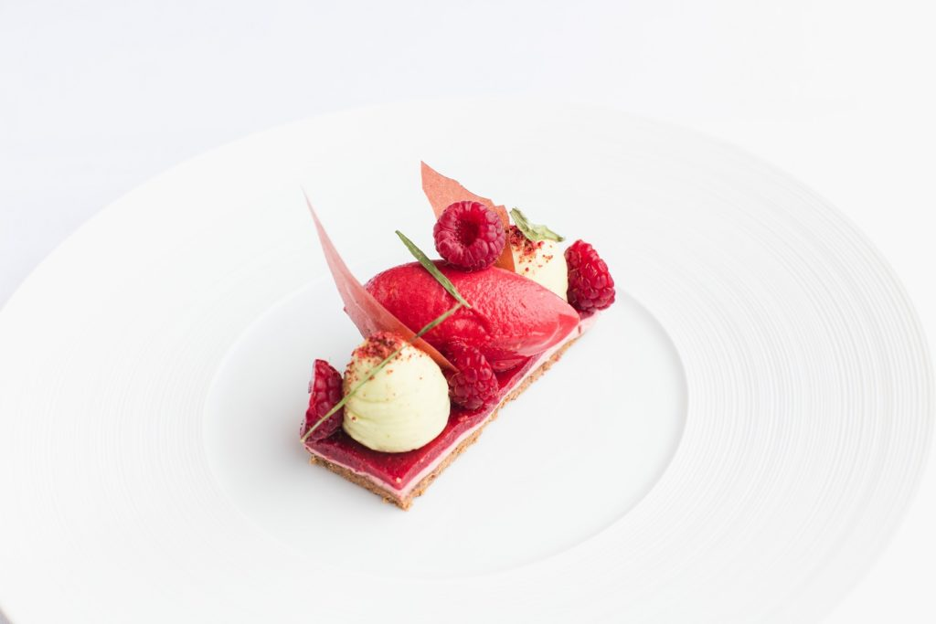 Raspberry, White Chocolate- Pink Pepper and Tarragon at Bohemia