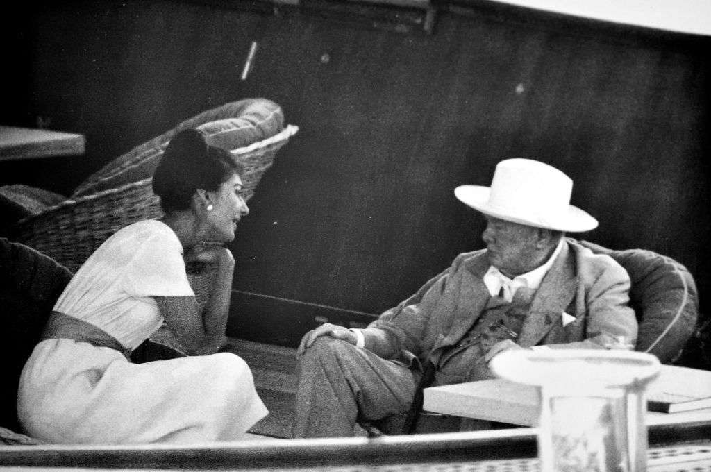 Winston Churchill and Jackie Kennedy Onassis
