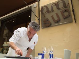 Chef Carmelo Pannocchietti hard at work at Ara e Sud