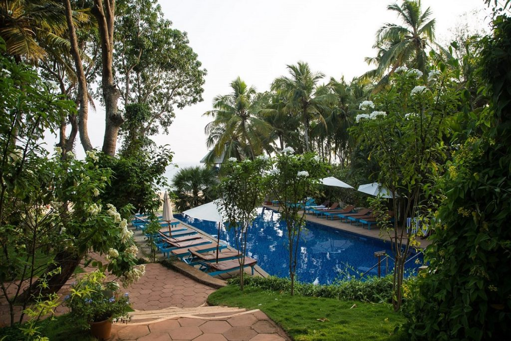 Somatheeram Ayurveda Village Pool and Trees