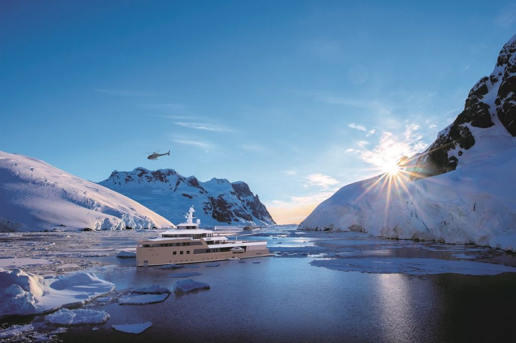 La Datcha Superyacht in the Arctic