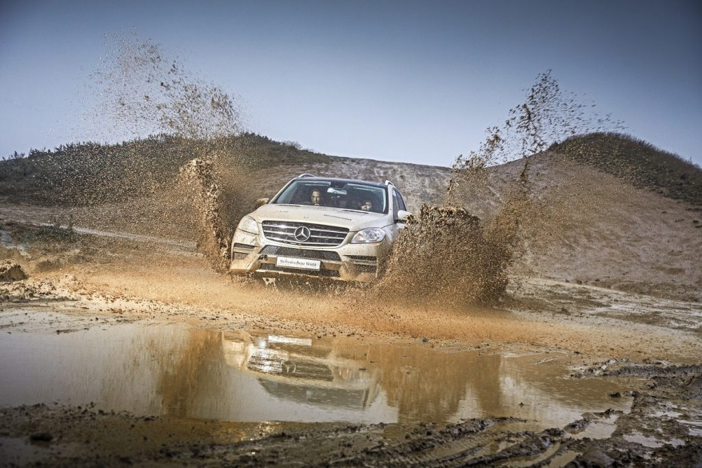 Off-roading through mud