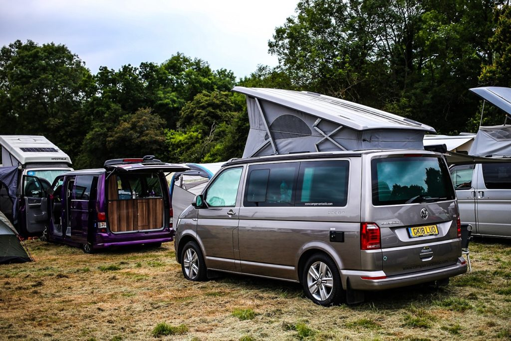 VW California Ocean with roof up