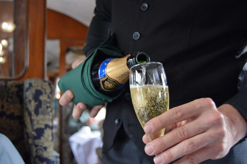Champagne in Pullman Carriage