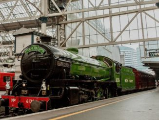 Mayflower Steam Train at Waterloo Station