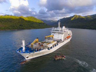 Aranui Cruise and Cargo ship