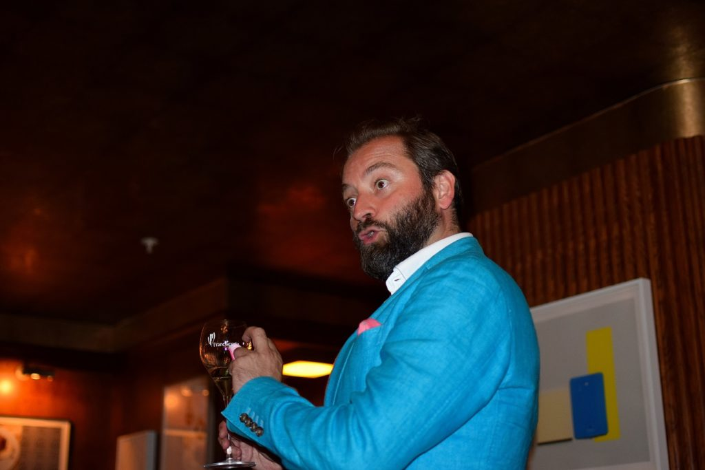 Franciacorta's UK Brand Ambassador Tom Harrow