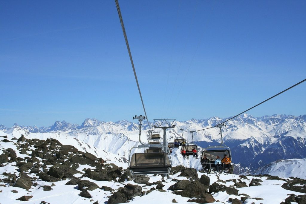 Chairlift in Samnaun