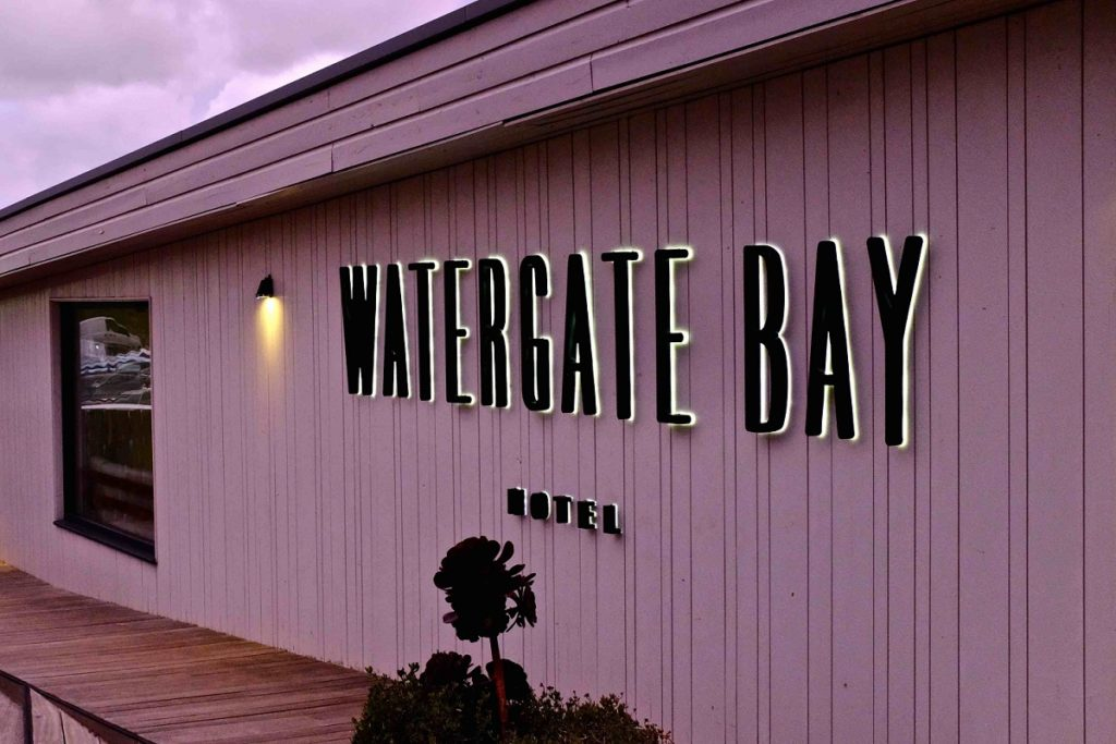 Watergate Bay Hotel Sign
