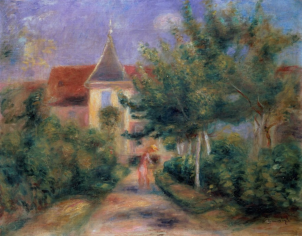 Painting of Renoir's house in Essoyes