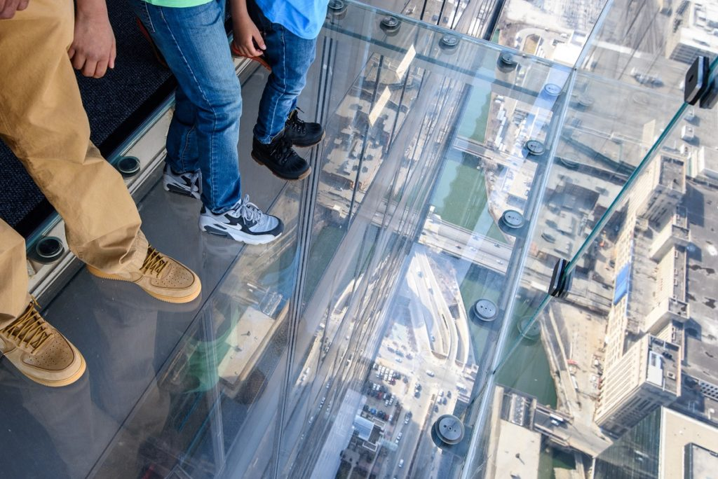 Looking down from the SkyDeck