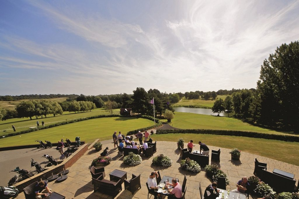 View from the Golf Terrace at Stoke by Nayland Hotel