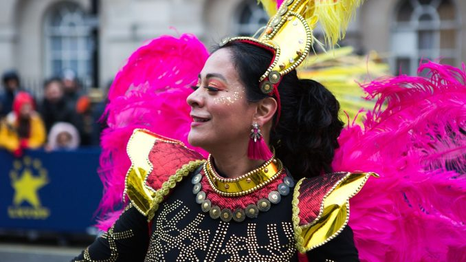 Colourful Parade Performer