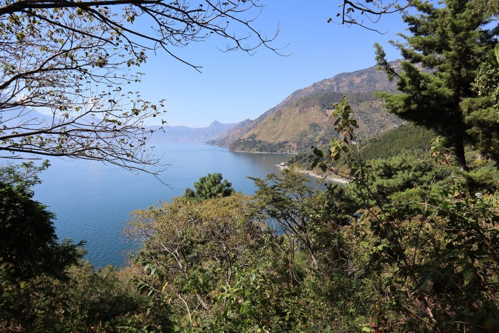 Trail view of Lake Atitlan