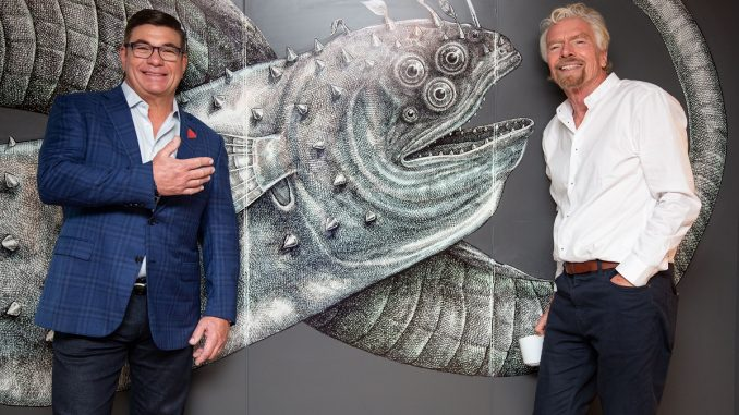 Tom McAlpin and Richard Branson